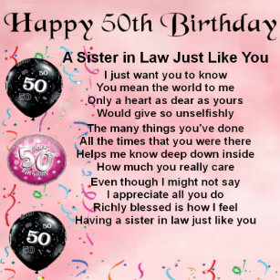 Sisters 50th Birthday Gifts On Zazzle AU