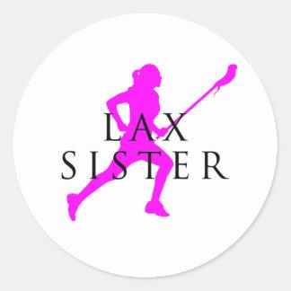 Sister Lax? Classic Round Sticker