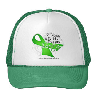 Sister Lime Green Ribbon - Lymphoma Hat