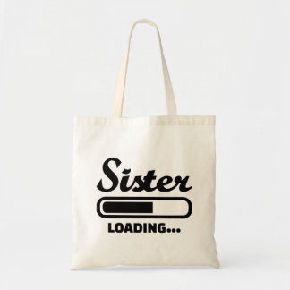 Sister loading canvas bags