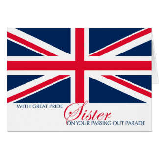 Sister Marching Passing Out Parade Congratulations Card