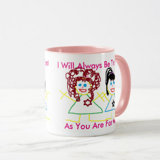 Sister, My Best Friend, Pink Combo Coffee Mug
