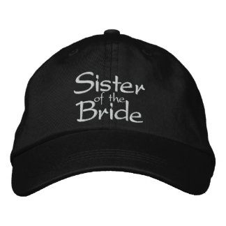 Sister of the Bride Embroidered Wedding Cap Embroidered Baseball Caps