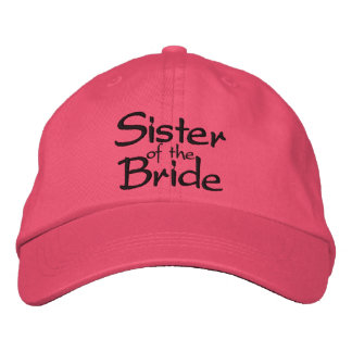 Sister of the Bride Embroidered Wedding Cap Embroidered Hats