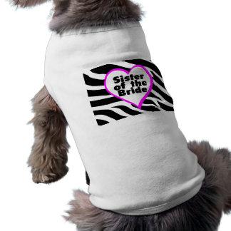 Sister of the Bride (Heart Zebra Stripes) Shirt