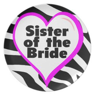 Sister Of The Bride Party Plate