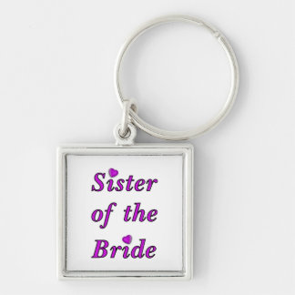 Sister of the Bride Simply Love Key Ring