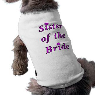 Sister of the Bride Simply Love Sleeveless Dog Shirt