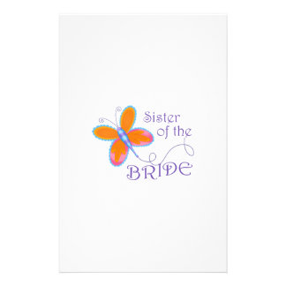 SISTER OF THE BRIDE CUSTOMIZED STATIONERY