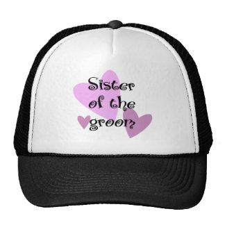 Sister of the Groom Cap