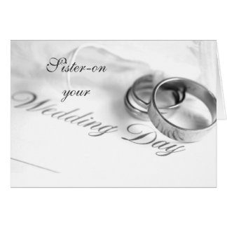 SISTER ON YOUR WEDDING DAY-LOVE/LAUGHTER GREETING CARD
