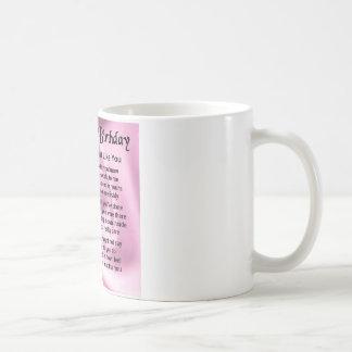 Sister poem  -  60th Birthday Coffee Mug
