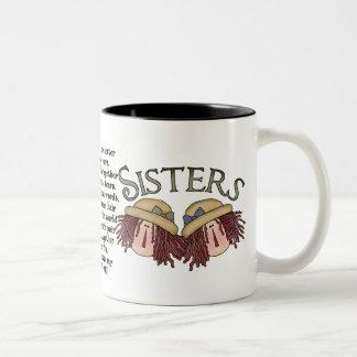 Sister Poem sentimental coffee mug