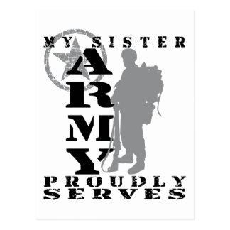 Sister Proudly Serves - ARMY Postcard