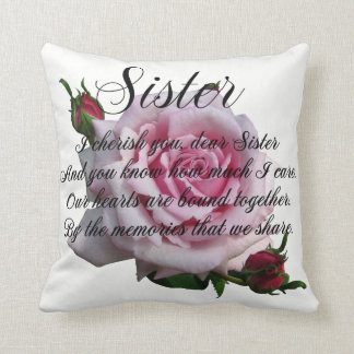 SISTER QUOTE CUSHION
