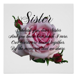 SISTER QUOTE POSTER