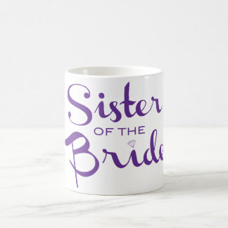 Sister Retro Script Purple Coffee Mug