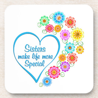 Sister Special Heart Coaster