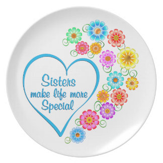 Sister Special Heart Plate