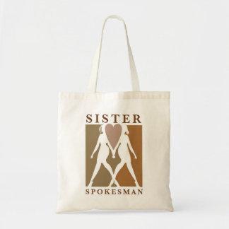 Sister Spokesman Tote Bag