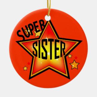 Sister Super Star Christmas Ornament