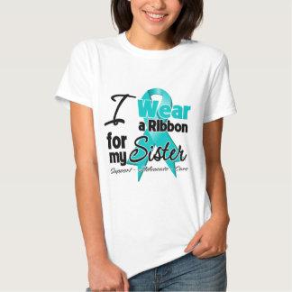 Sister - Teal Awareness Ribbon T Shirts