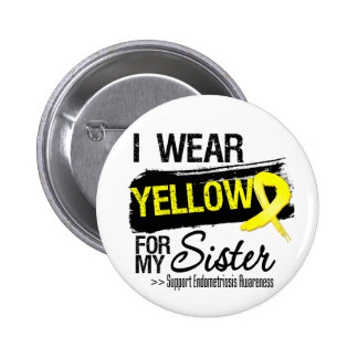 Sister Yellow Ribbon Endometriosis 6 Cm Round Badge