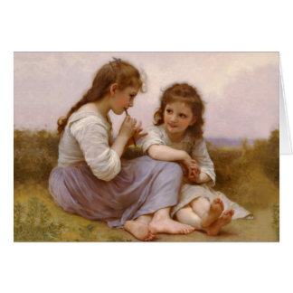 Sisters and Flute Music by Bouguereau Card