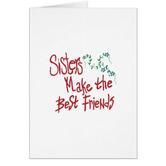 Sisters Best Friends Card