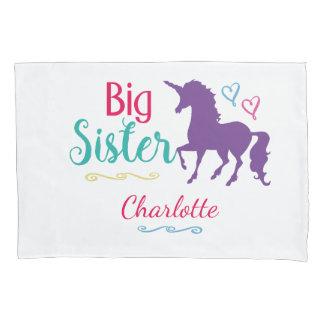 Sisters Big Sister Unicorn Pretty Colorful Kids Pillowcase