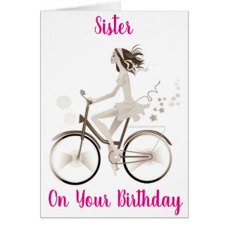 "***SISTER'S BIRTHDAY*** YOU MAKE ""ME HAPPY"" CARD"