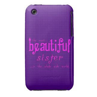 Sisters Birthdays Parties Beautiful Sister iPhone 3 Case