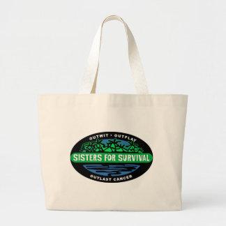 Sisters for Survival totebags Jumbo Tote Bag