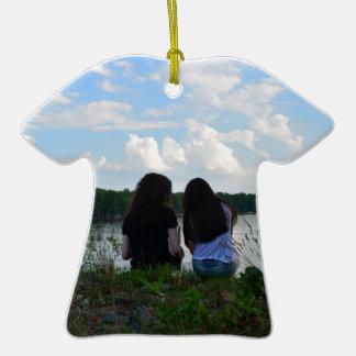 Sisters/Friends Ceramic T-Shirt Ornament