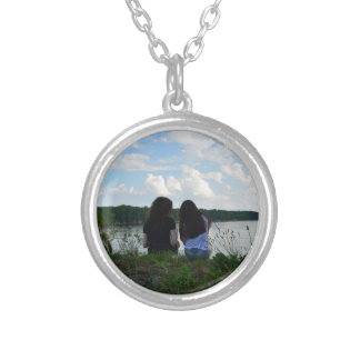 Sisters/Friends Round Pendant Necklace