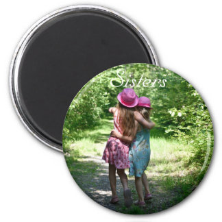 Sisters Friendship in the Rustic Spring Country Magnet