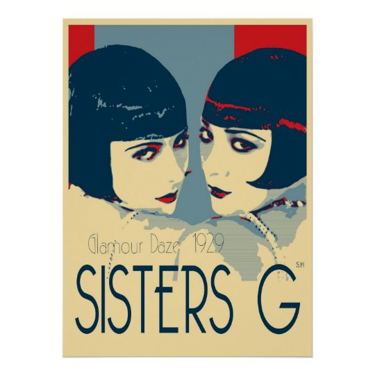 Sisters G - 1920's Fashion Poster