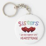 Sisters Heartstrings Keychain