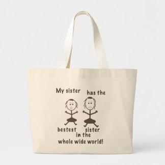 Sisters Humorous Tote Bag