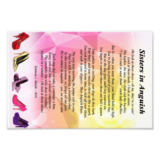Sisters in Anguish Poem (Shoes) Photo Print