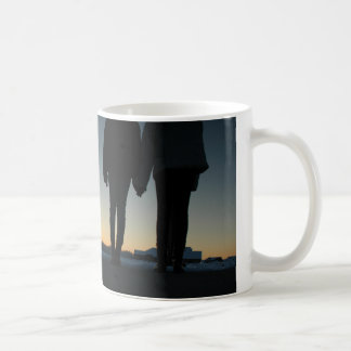 sisters in the sunset coffee mug