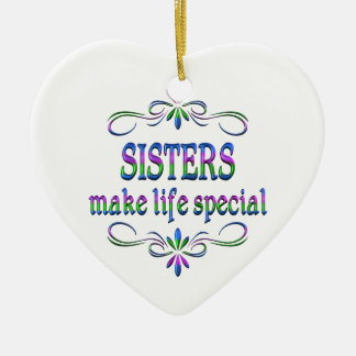 Sisters Make Life Special Ceramic Heart Decoration