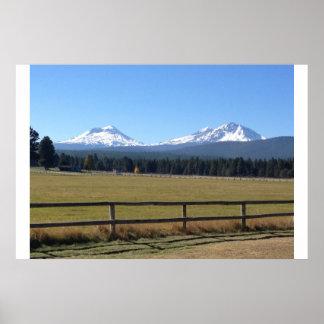 Sisters, Oregon Mountain Range Poster