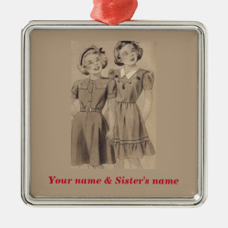 Sisters Ornament - Customize both names