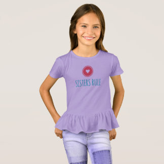 Sisters Rule Girls' Ruffle T-Shirt