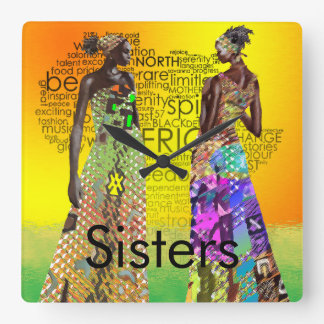 Sisters Square Wall Clock
