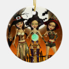 Sisters Three Witch Halloween Round Ornament