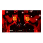 sisters with lamp business card