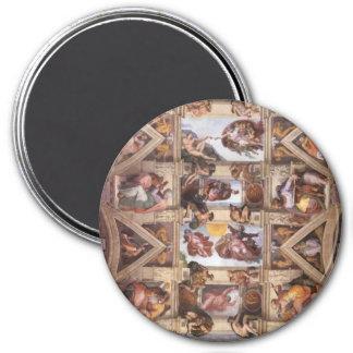 Sistine Chapel Ceiling 7.5 Cm Round Magnet