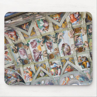 """Sistine Chapel ceiling"" and Michelangelo Mouse Pad"